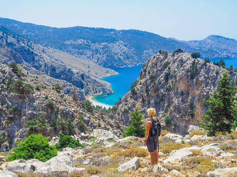 Symi - Wandern zum Strand Agios Vasilos Beach
