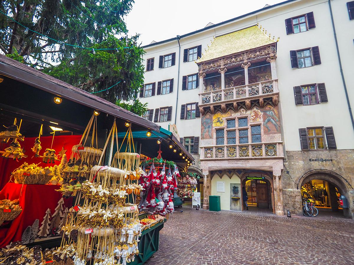 Innsbruck - das Goldene Dachl, Christkindlmarkt