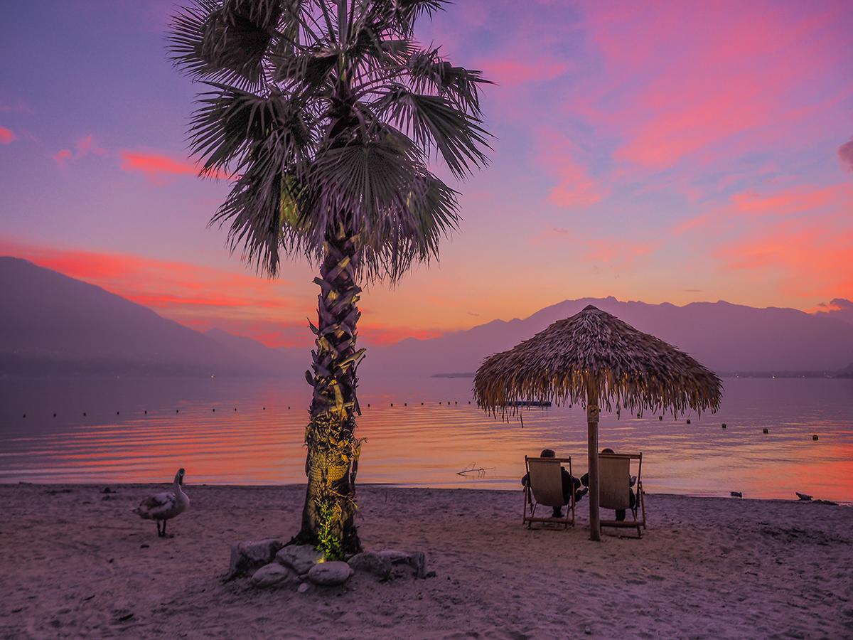Lago Maggiore - Locarno/Tenero, Sonnenuntergang