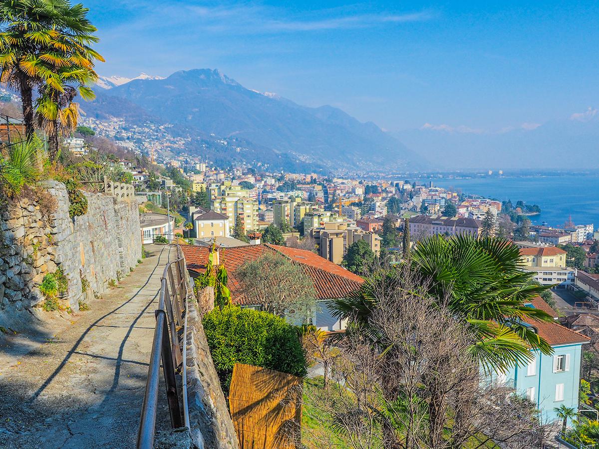 Lago Maggiore, Locarno - Wandern zur Kirche Madonna del Sasso