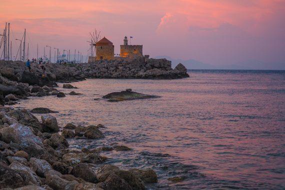 Rhodos-Stadt, Sonnenuntergang