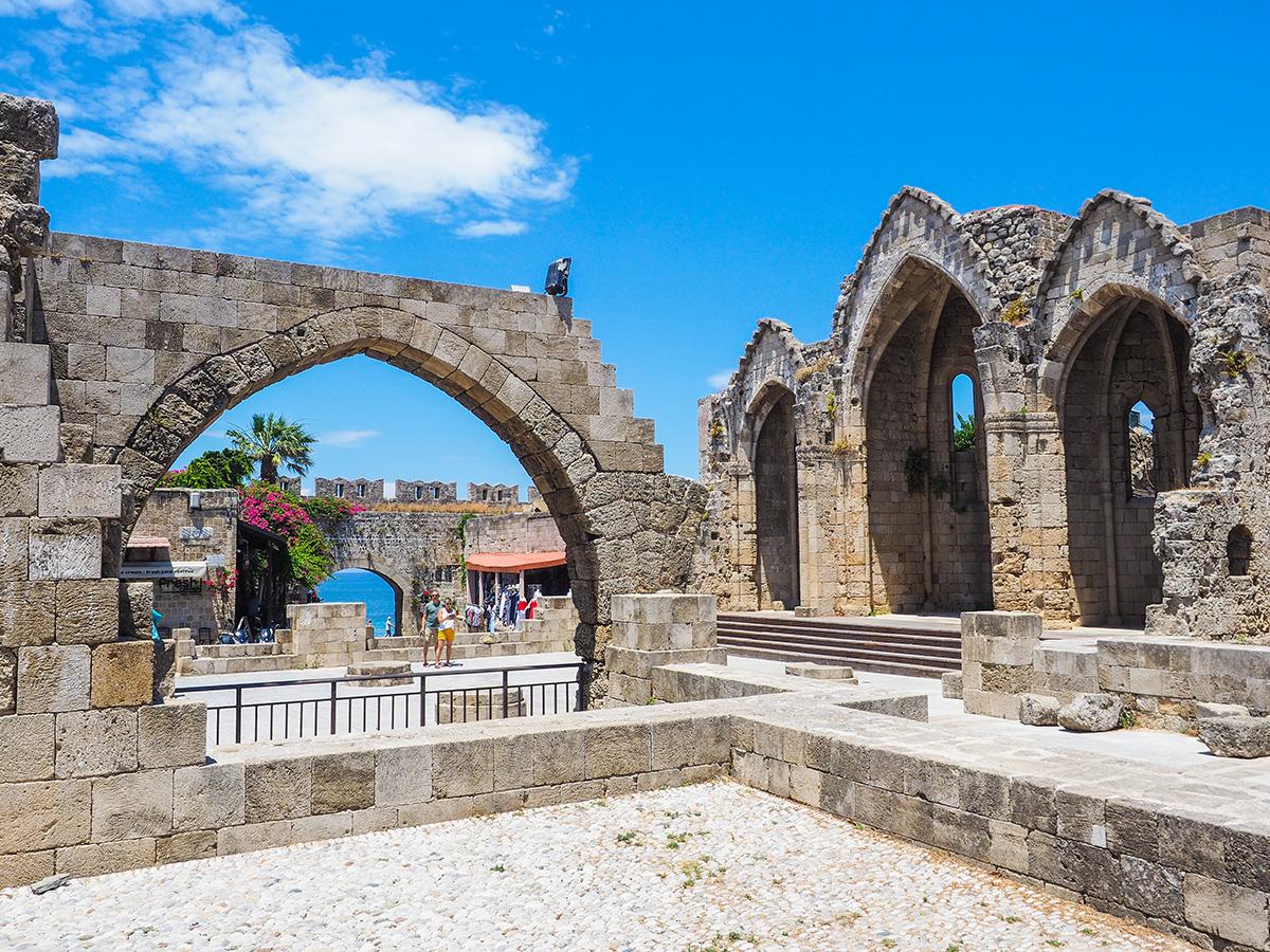 Rhodos-Stadt - Altstadt, Ruinen