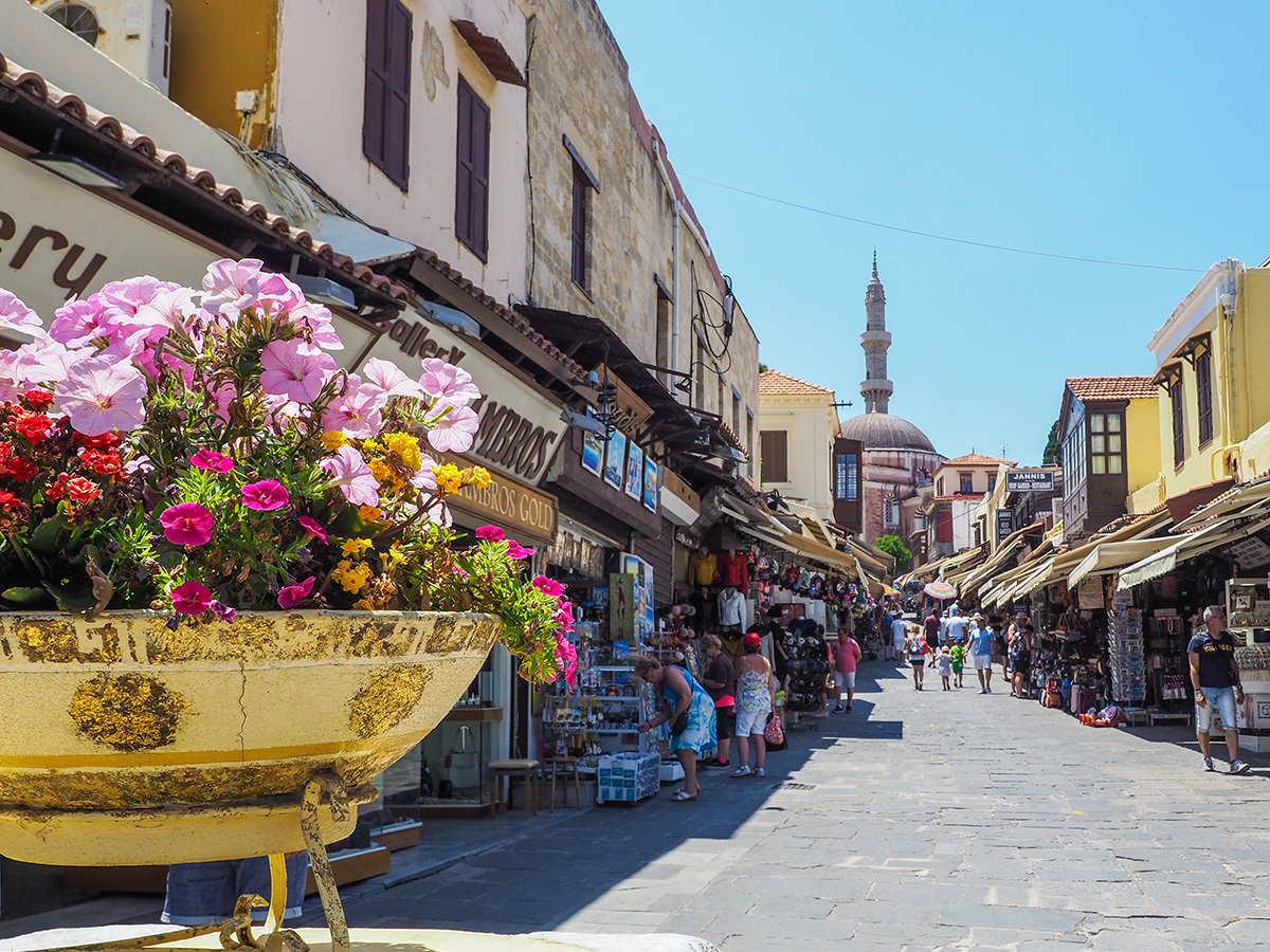 Rhodos-Stadt - Sokratesstraße & Süleyman-Pascha Moschee