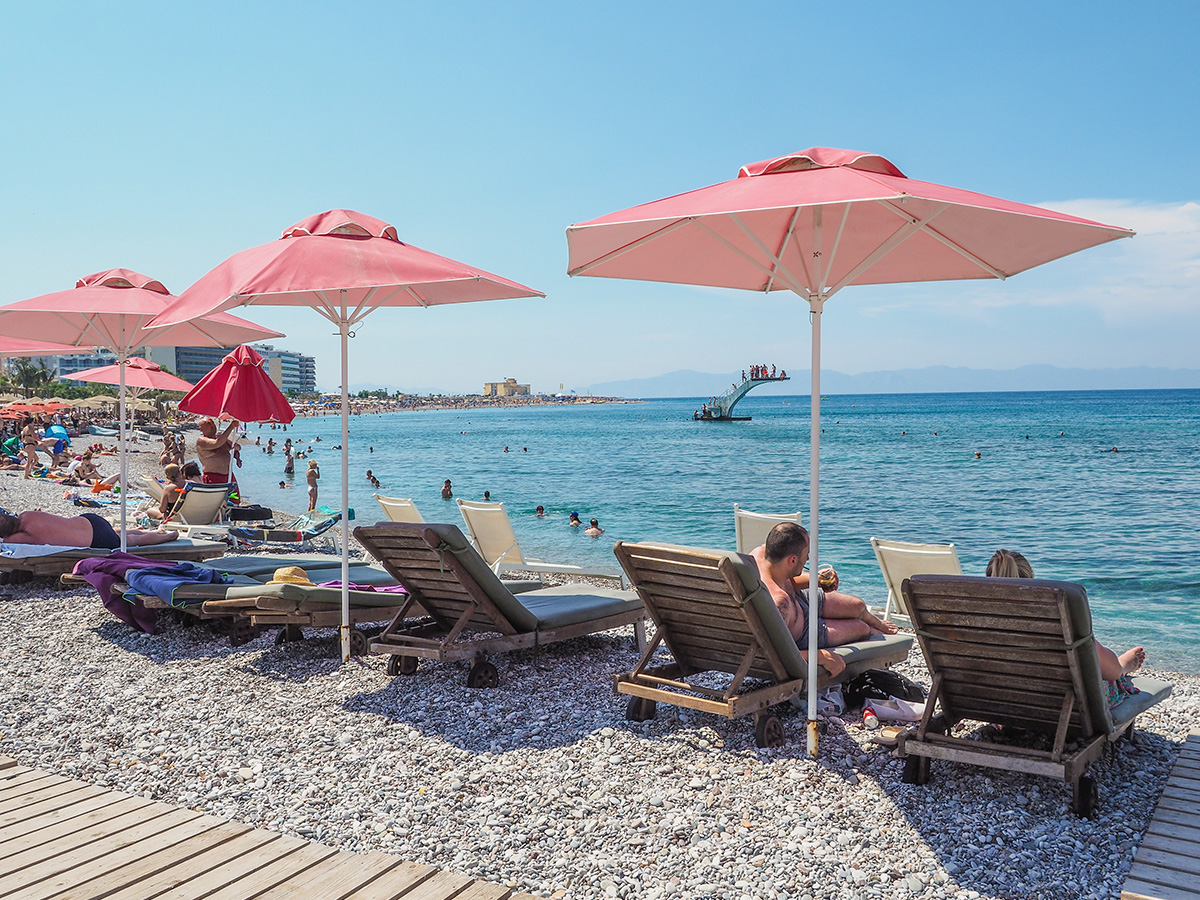 Rhodos-Stadt - Strand Elli Beach