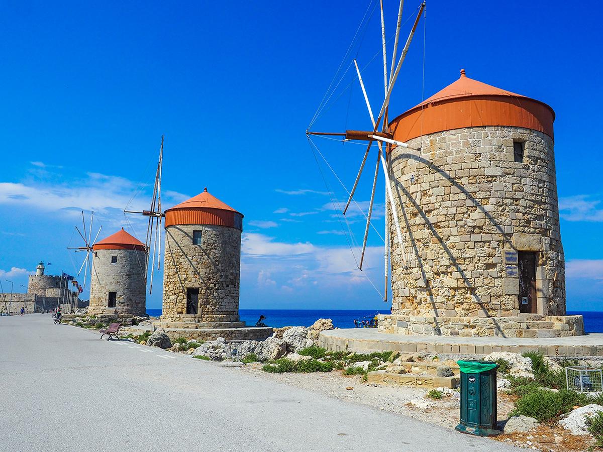 Rhodos-Stadt - Windmühlen