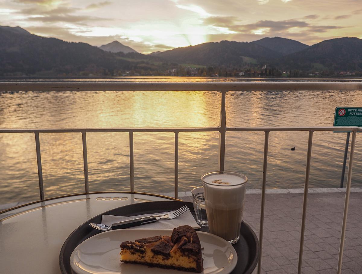 Tegernsee - Cafe Aran, Sonnenuntergang