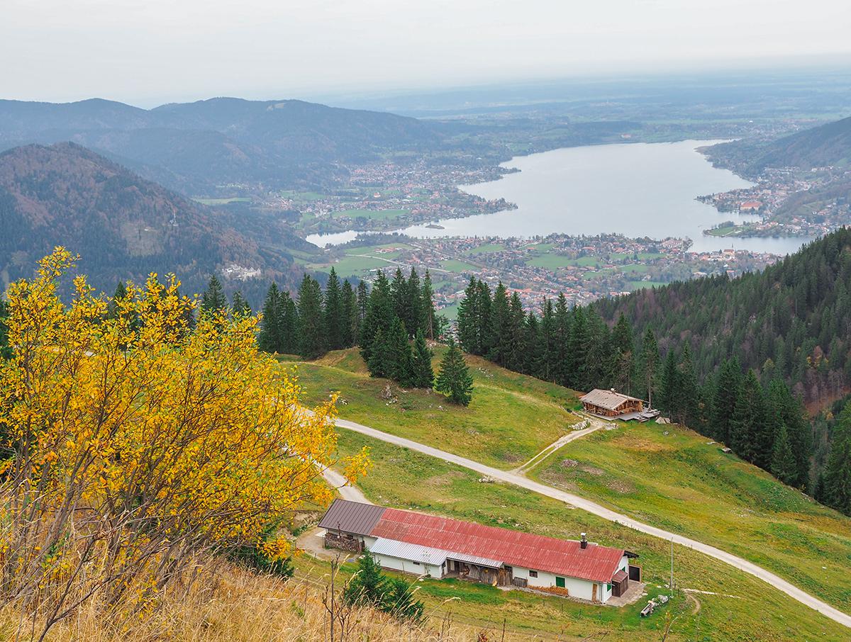 Wandern Tegernsee - Setzberg im Herbst