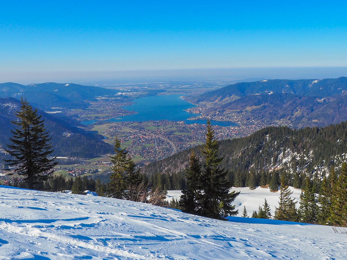 Winterwandern Tegernsee - Wallberg - Setzberg, Ausblick