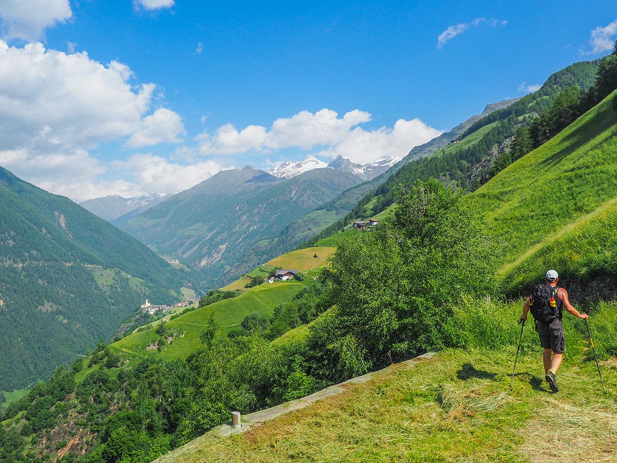 Meraner Höhenweg Wandern Giggelberg - Katharinaberg