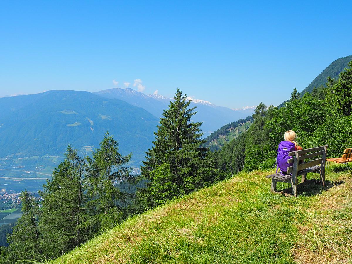 Meraner Höhenweg Wandern Matatz - Hochmuth