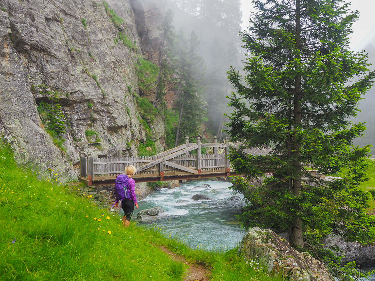 Meraner Höhenweg Wandern - Pfelders - Matatz, Pfeldererbach