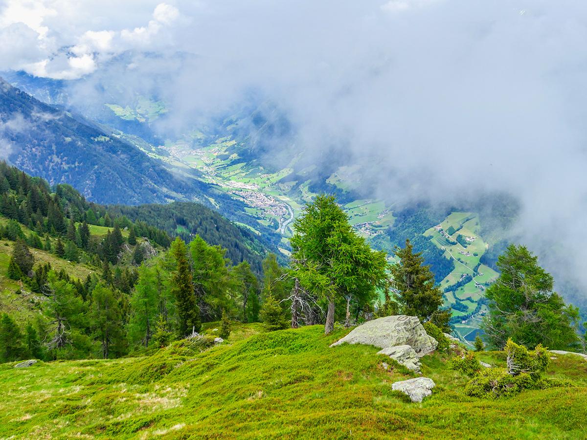 Passeiertal - Wandern Saltaus - Sattelspitz, Ausblick Tal