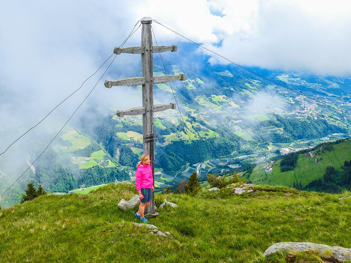Passeiertal - Wandern Saltaus - Sattelspitz, Gipfelkreuz