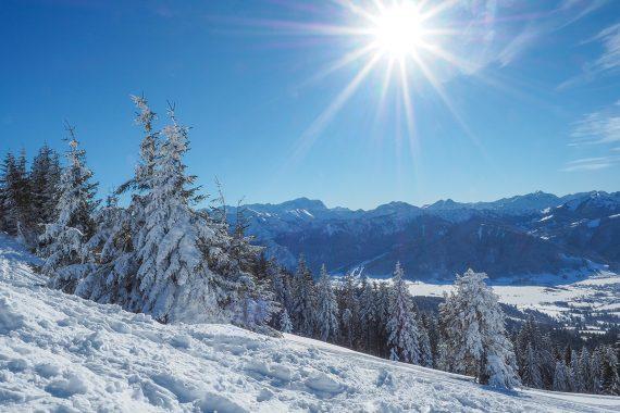 Wanderurlaub im Winter in Bayern und in Österreich