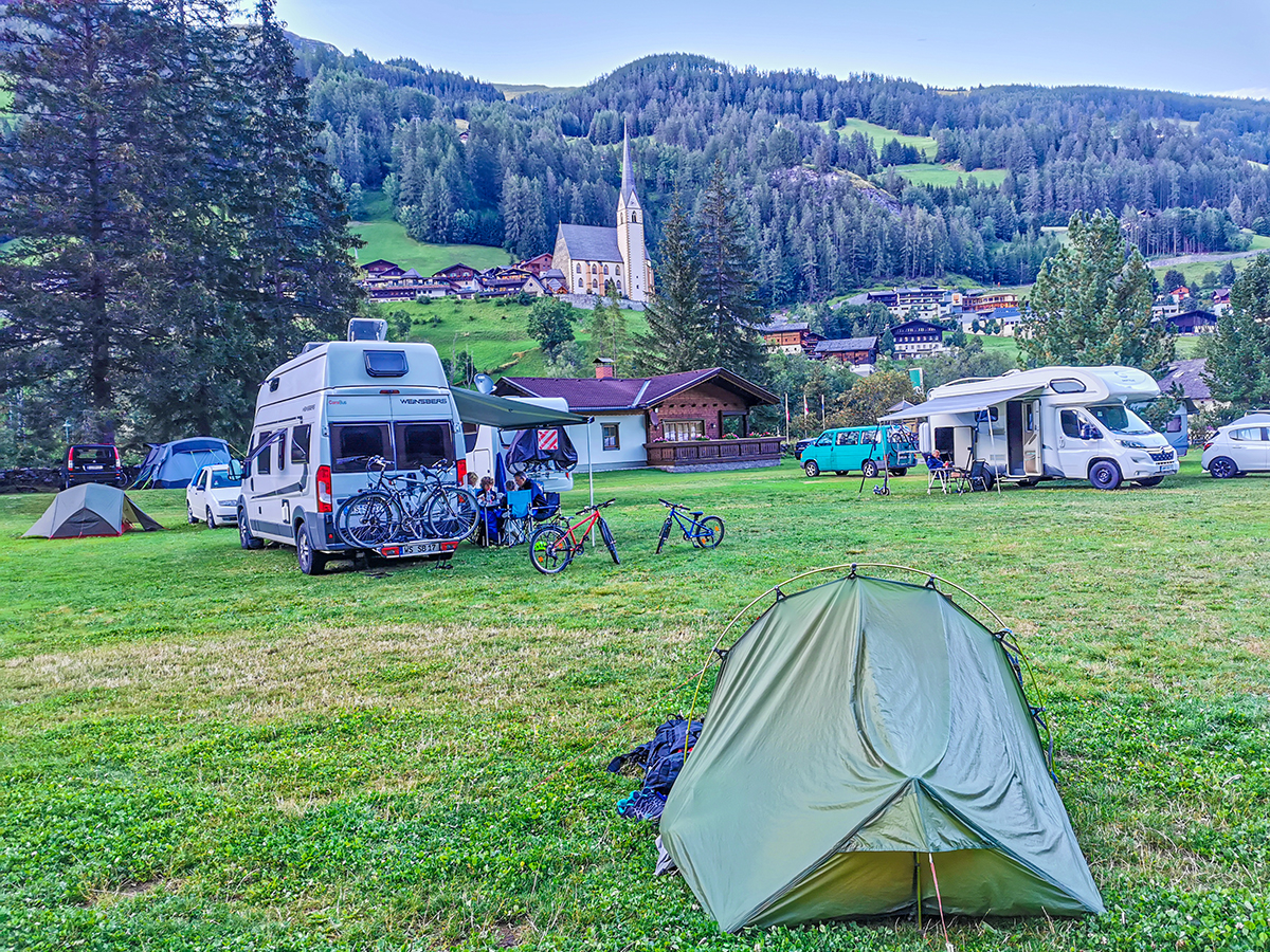 Weitwandern Chiemsee - Adria, Heiligenblut Campingplatz