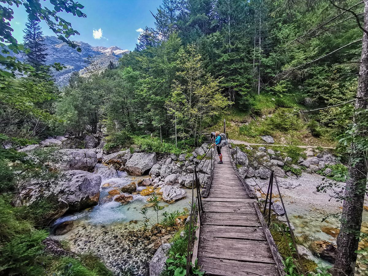 Weitwandern vom Chiemsee zur Adria - Fluss Soca in Slowenien