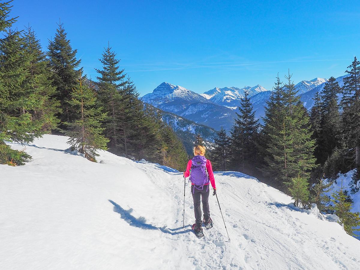 Winterurlaub - Schneeschuhwandern in Tirol im Lechtal