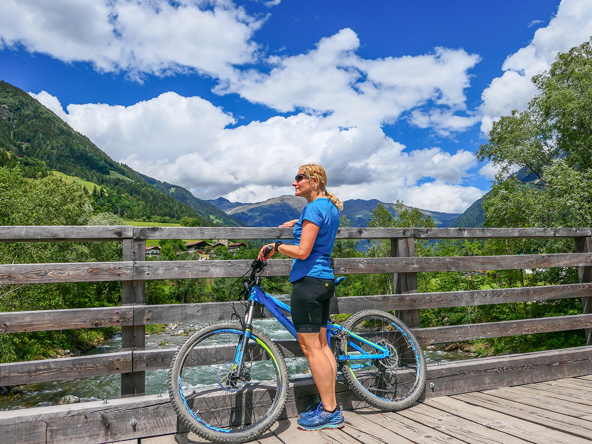 Passeiertal Radfahren von Saltaus nach St. Leonhard