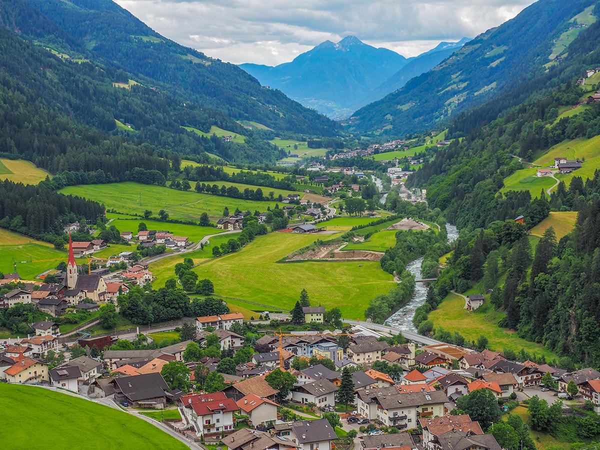 Passeiertal Radtour St. Leonhard, Aussichtspunkt