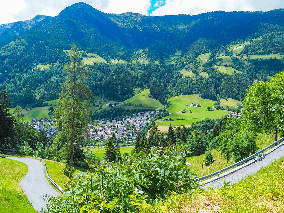 Passeiertal Radtour - St. Martin, Ausblick