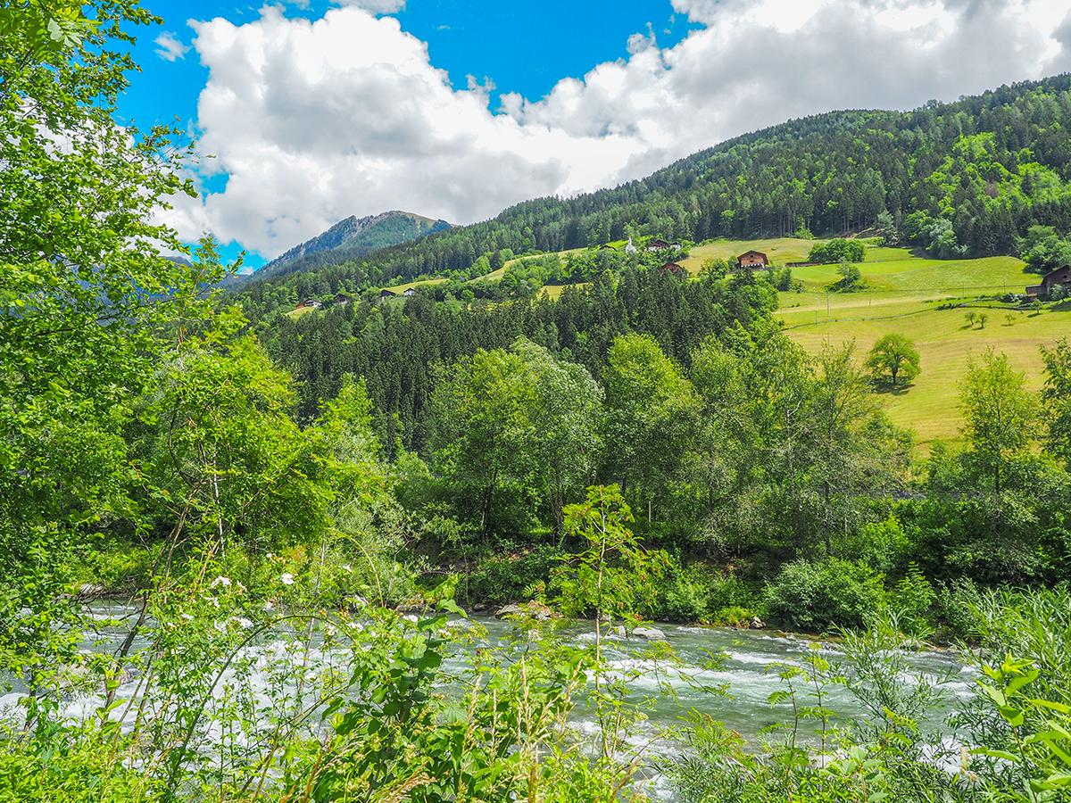 Passeiertal Radweg von Meran nach St. Leonhard, Passer