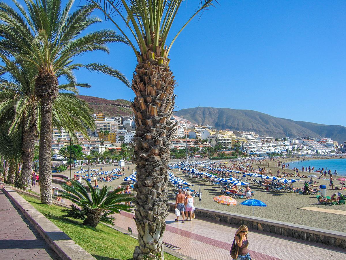 Teneriffa - Playa de las Americas, Playa de las Vistas Promenade