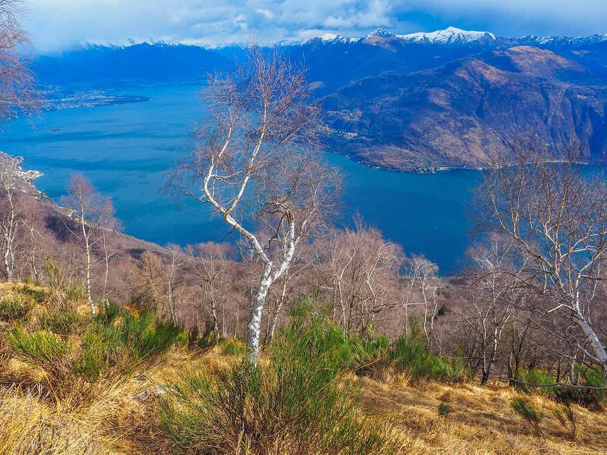 Wandern am Lago Maggiore, Cannobio - Monte Giove im WInter