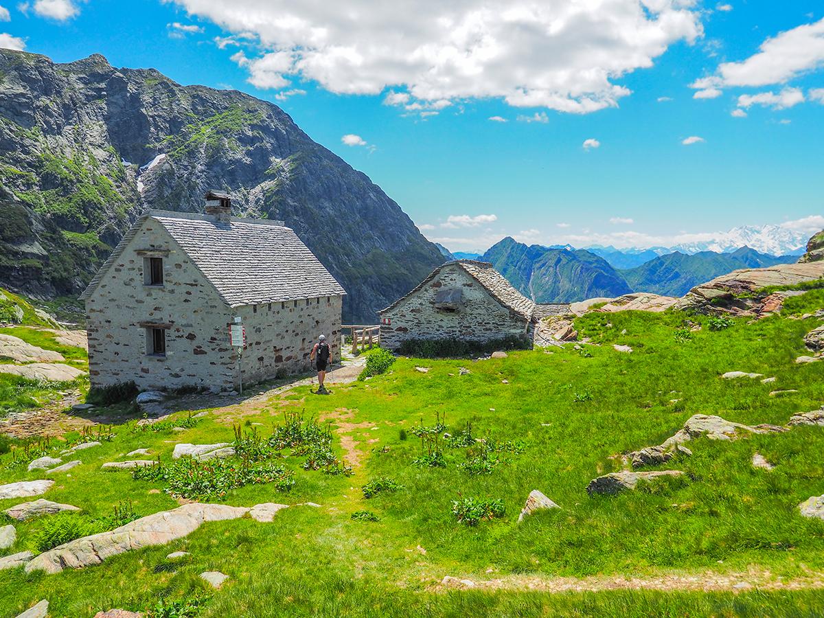 Wandern am Lago Maggiore, Cima della Laurasca, Alpe Scaredi