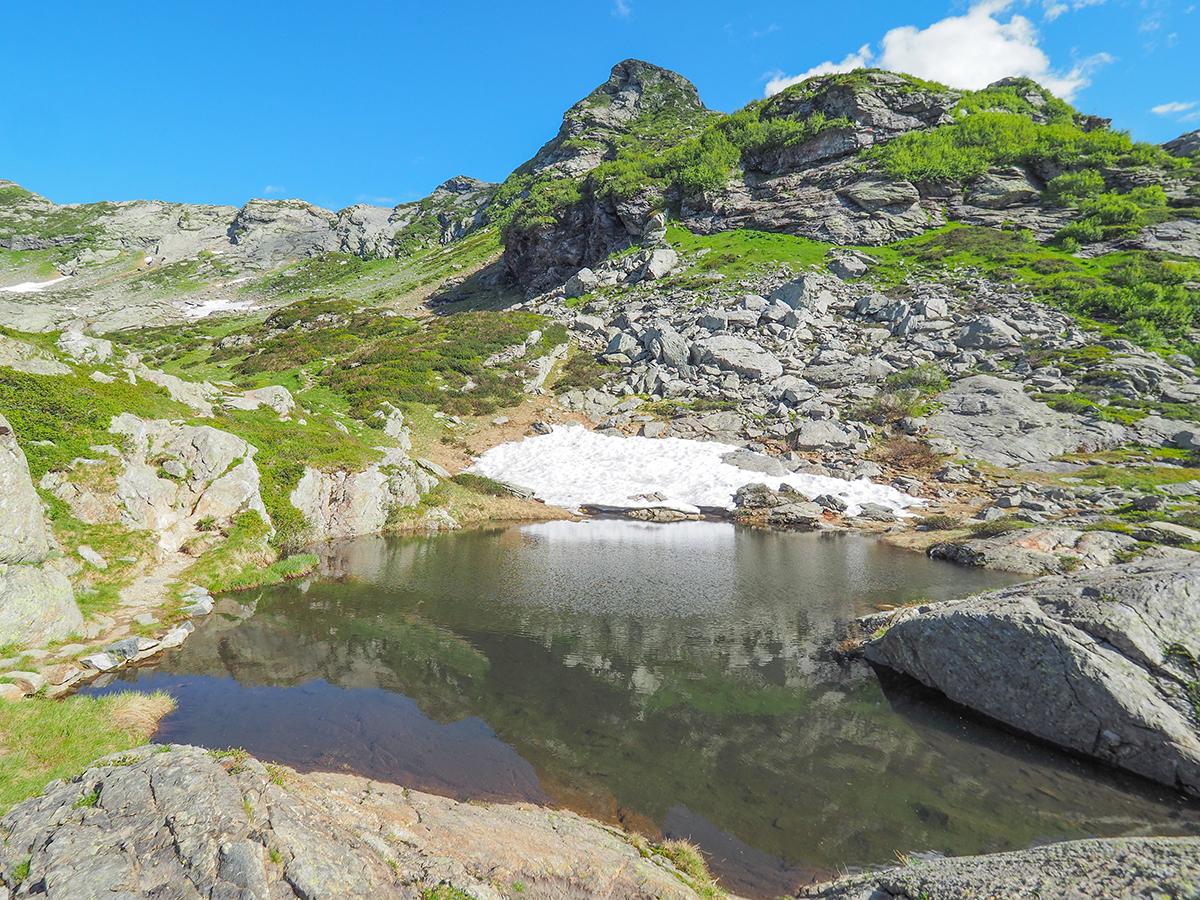 Wandern am Lago Maggiore, Cima della Laurasca, Lacke