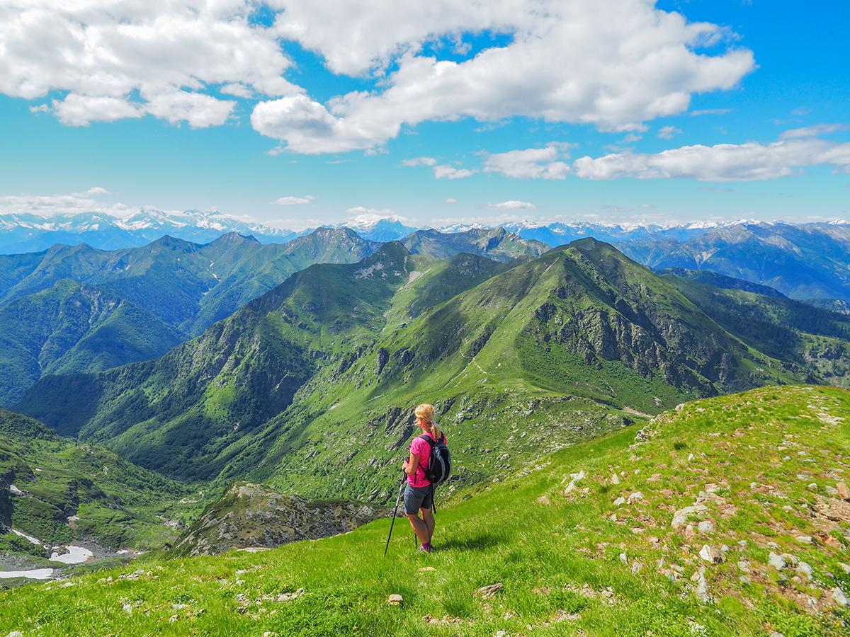 Wandern am Lago Maggiore, Cima della Laurasca, Ausblick Val Grande