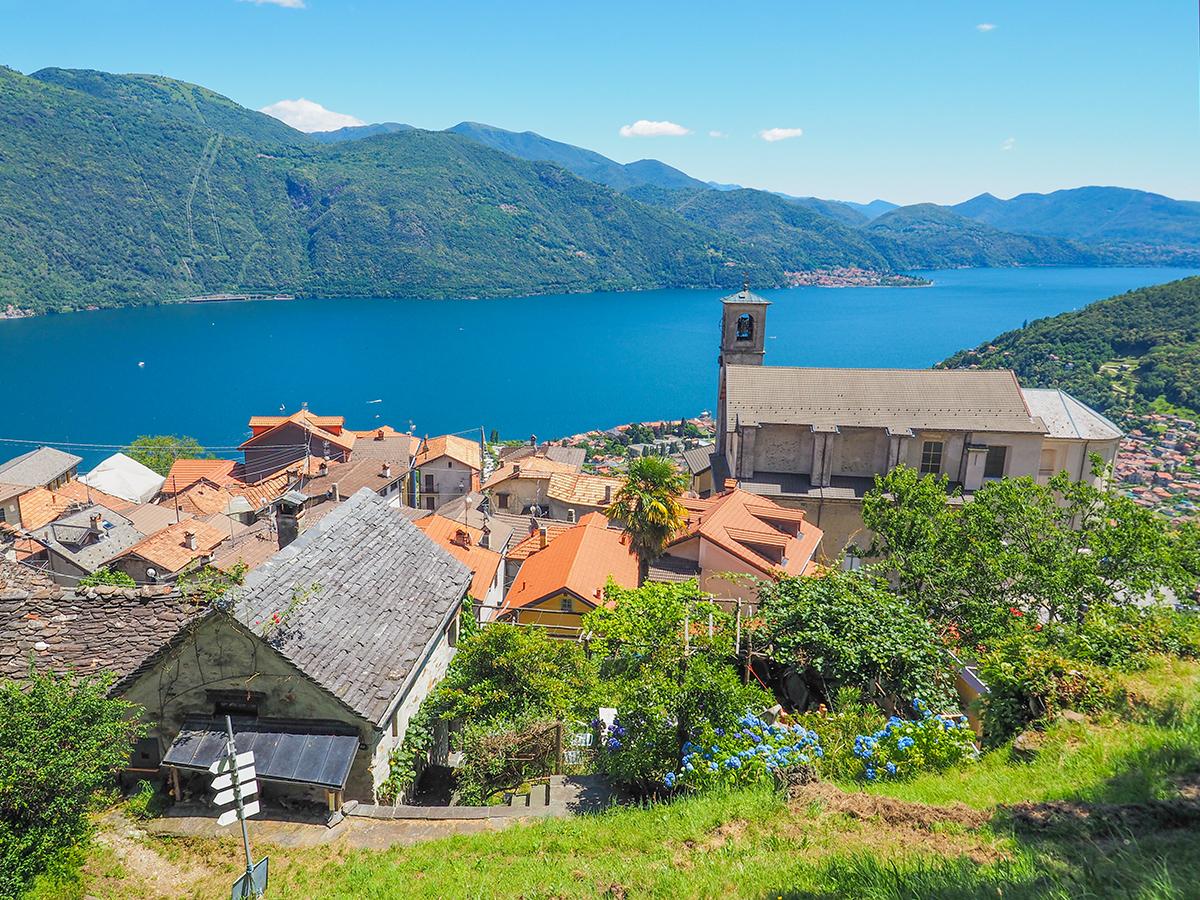 Wandern am Lago Maggiore, St. Agata - Monte Giove