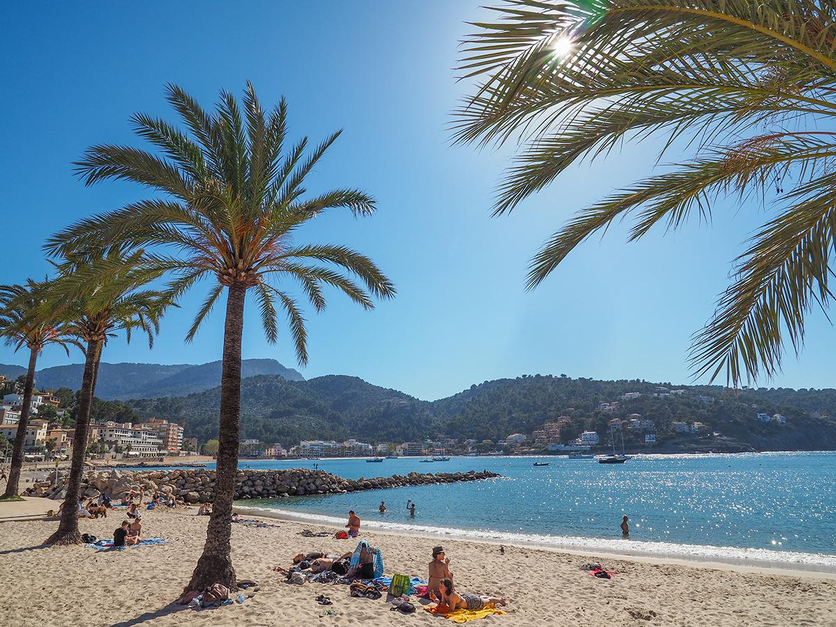 Mallorca - Port de Soller, Strand