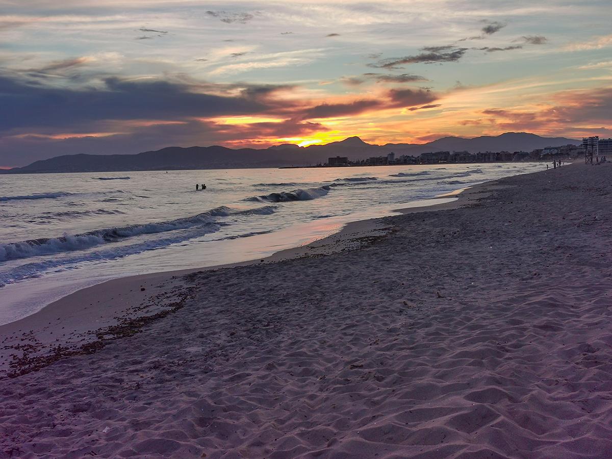 Mallorca Radreise - Playa de Palma, Sonnenuntergang