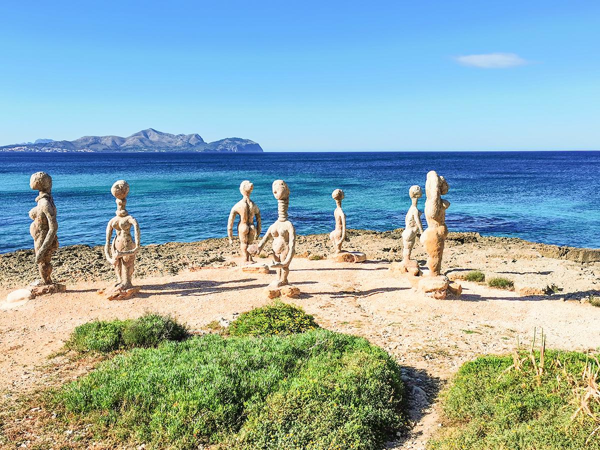 Mallorca Radreise - Can Picafort, Skulpturen