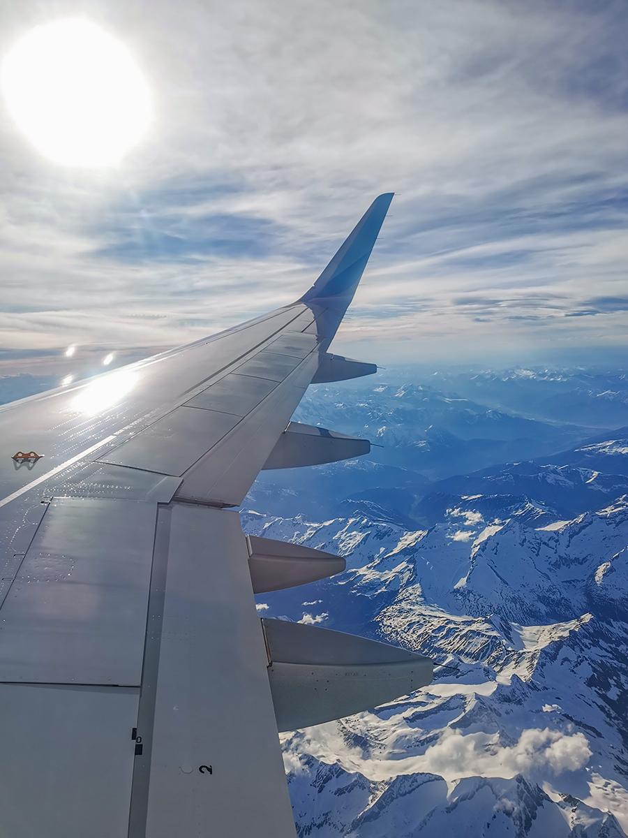 Mallorca Radreise - Hinflug, Flugzeug