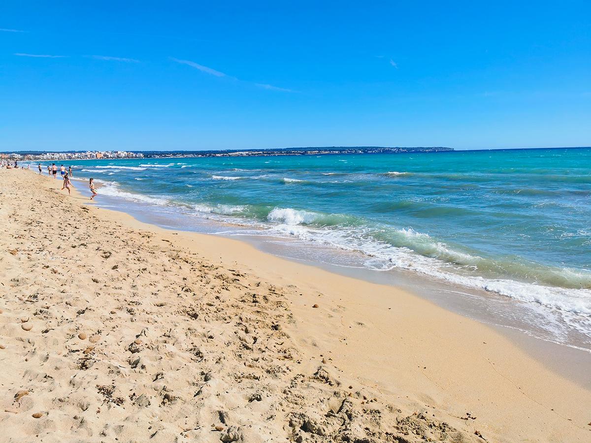 Mallorca Radreise - Playa de Palma, Strand