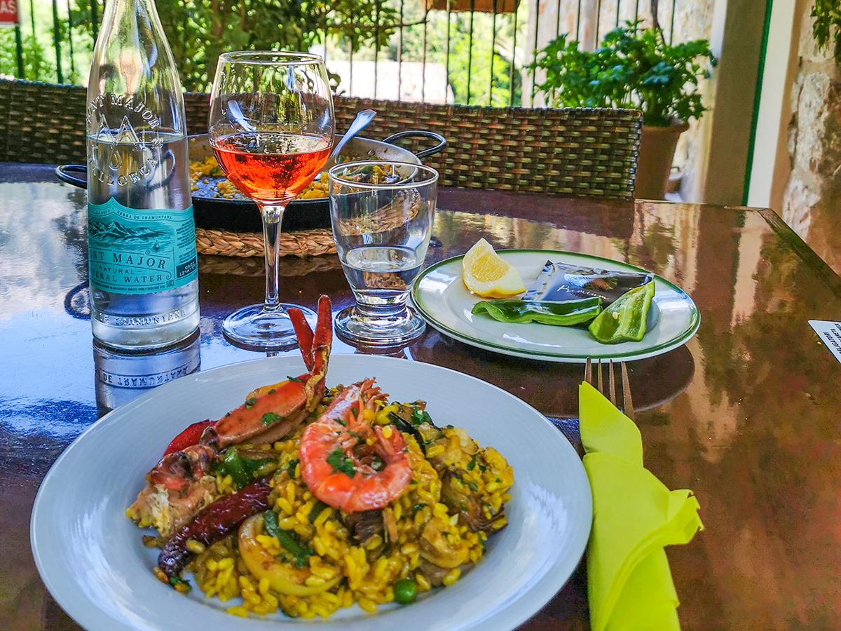 Mallorca Radreise - Mittagessen Restaurant Fornalutx