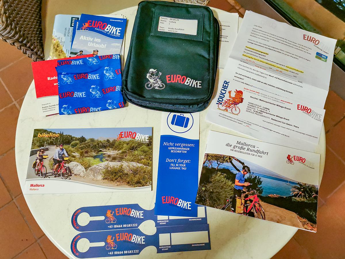 Mallorca Radreise - Reiseunterlagen Eurobike