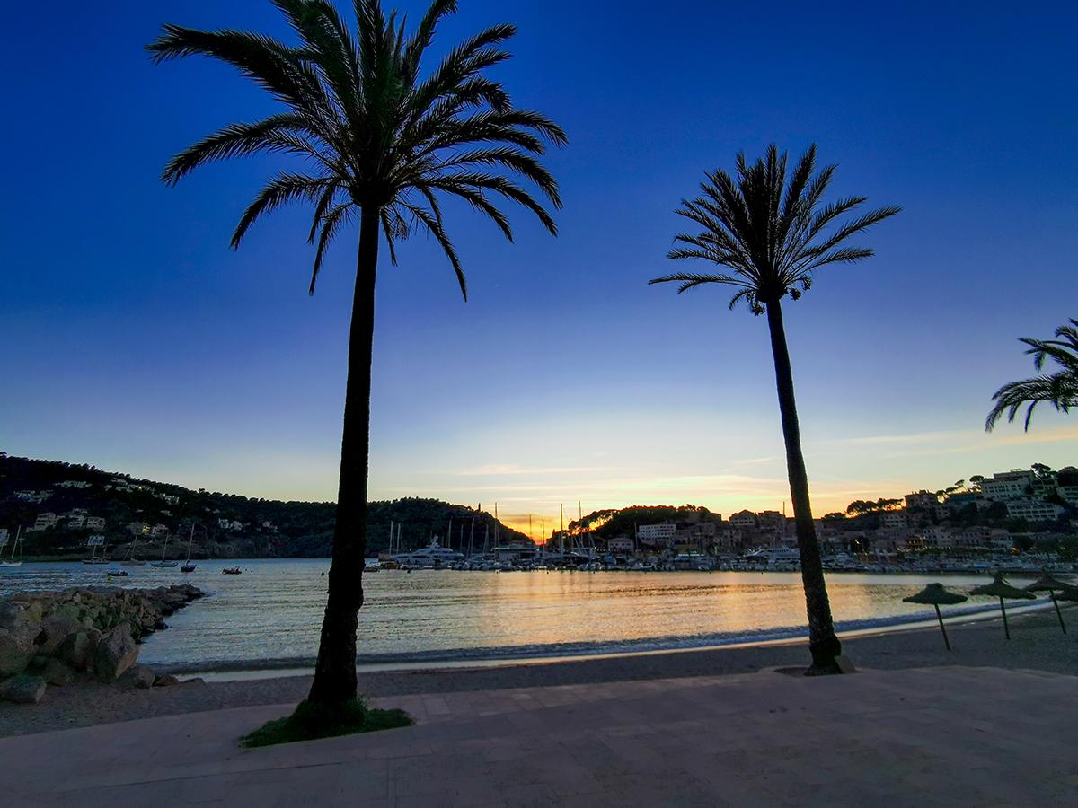 Mallorca Radreise - Port de Soller, Sonnenuntergang