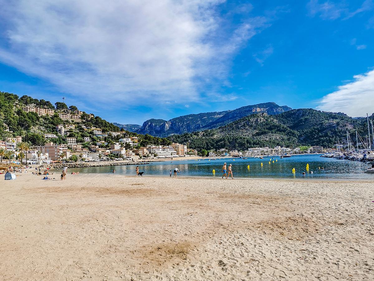 Mallorca Radreise - Port de Soller, Strand