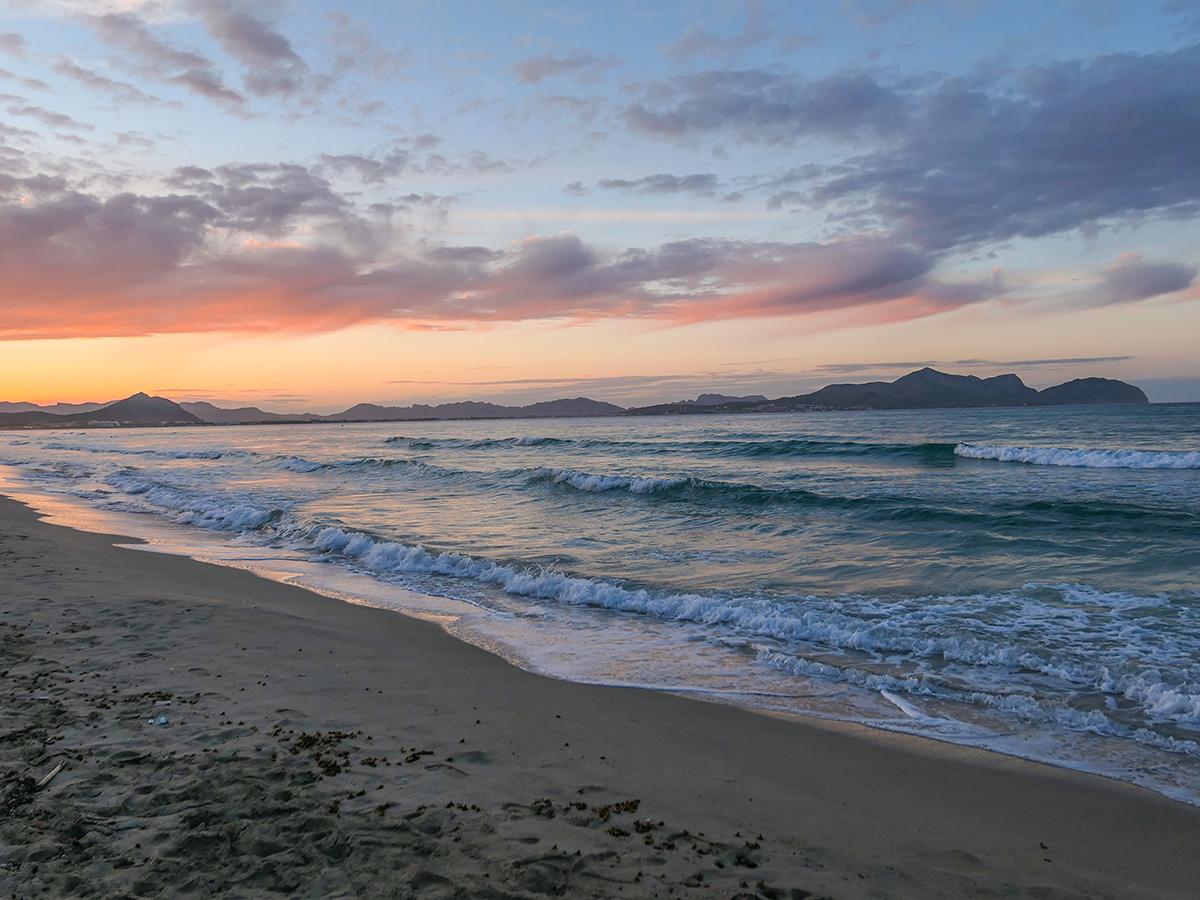 Mallorca Radreise - Can Picafort, Sonnenuntergang