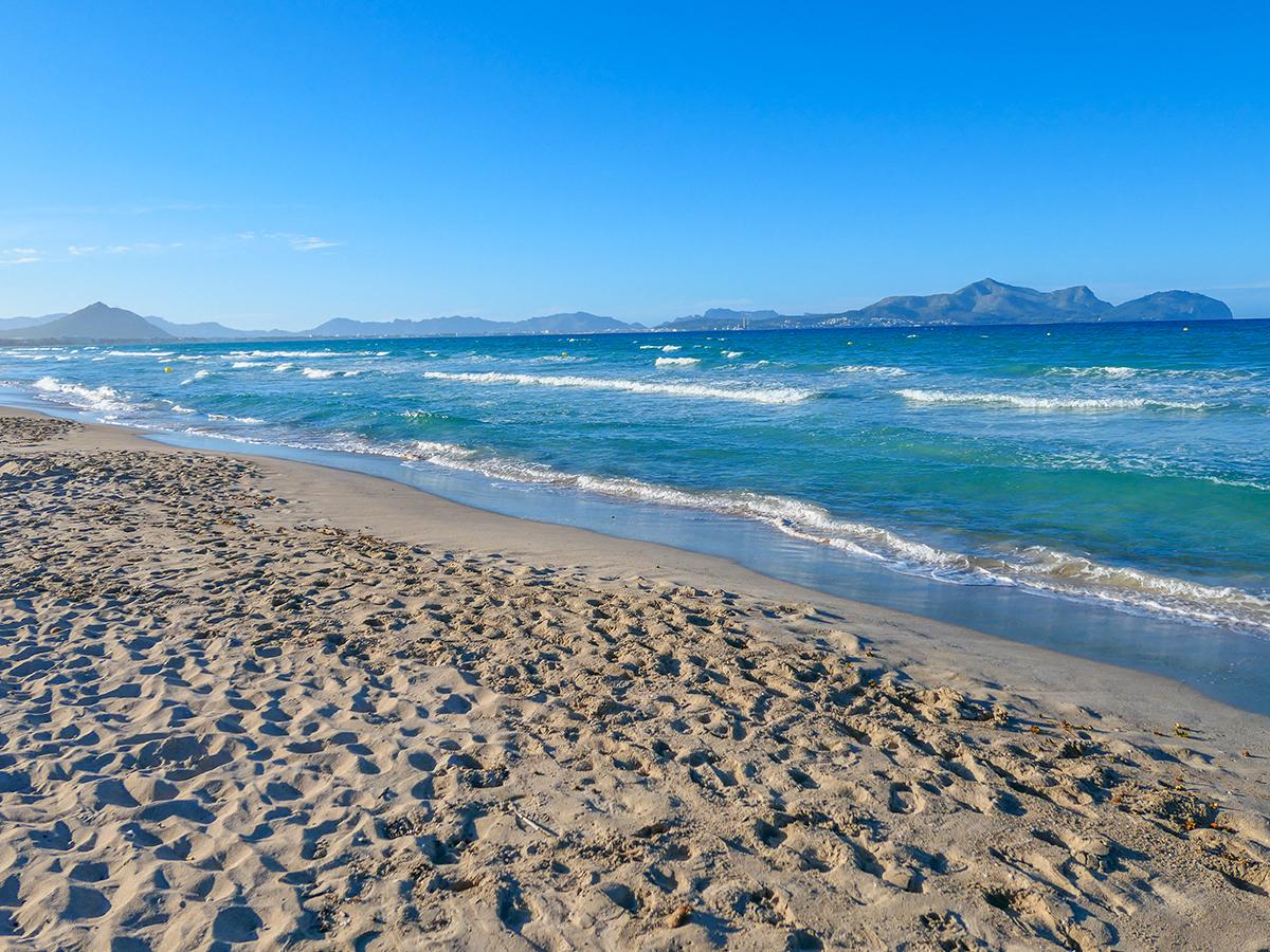 Mallorca Radreise - Playa de Muro, Strand