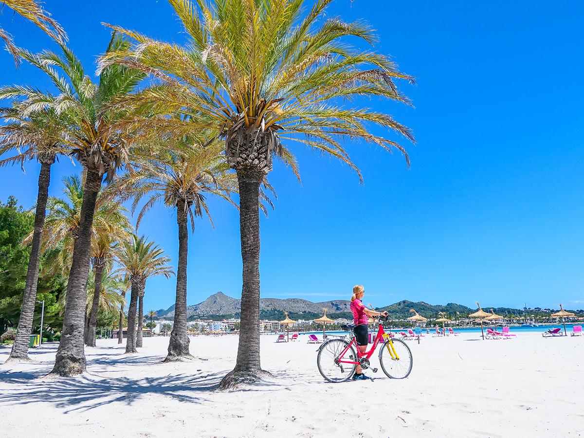 Mallorca Radreise - Port d'Alcudia, Strand
