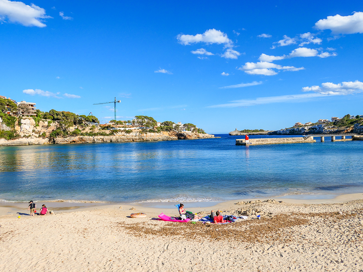 Mallorca Radreise - Porto Cristo, Strand