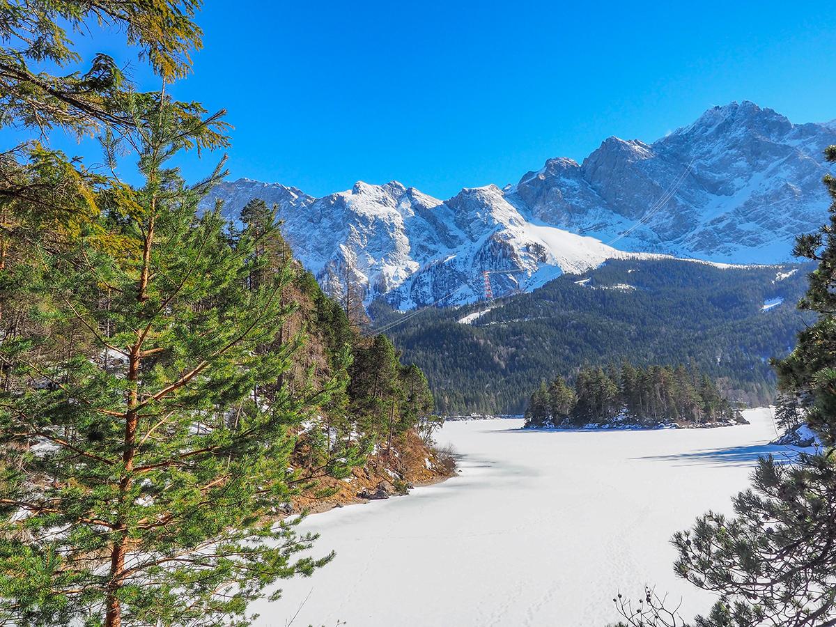 Wandern Vereine - Eibsee im Winter