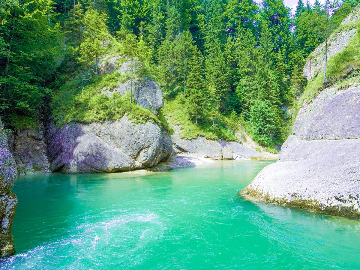 Meditationsweg Ammergauer Alpen - Ammerdurchbruch Scheibum