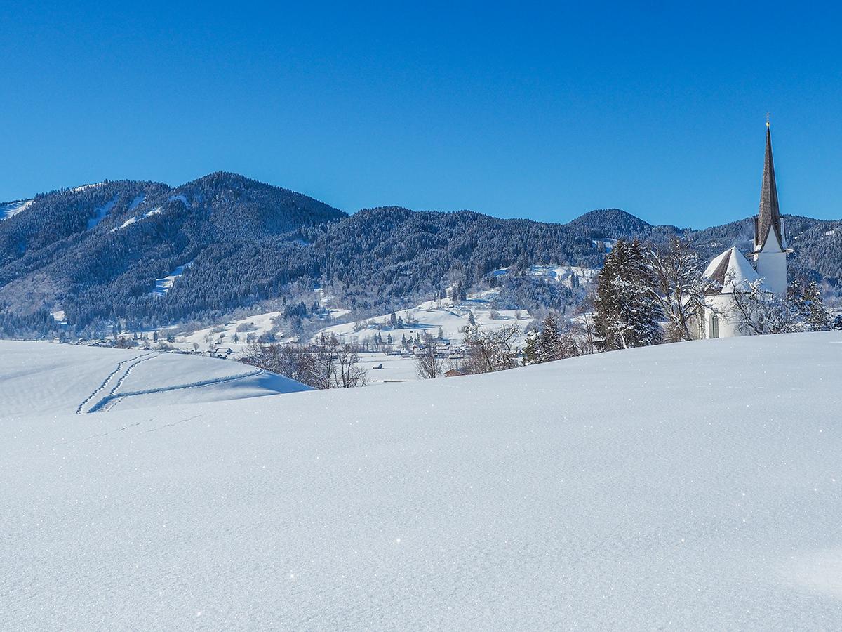 Meditationsweg Ammergauer Alpen - Kappell bei Unterammergau im Winter