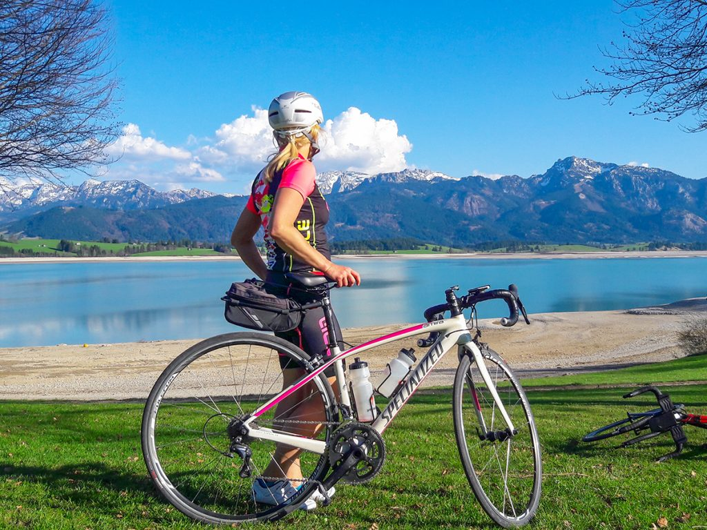 Rennradfahren Forggensee