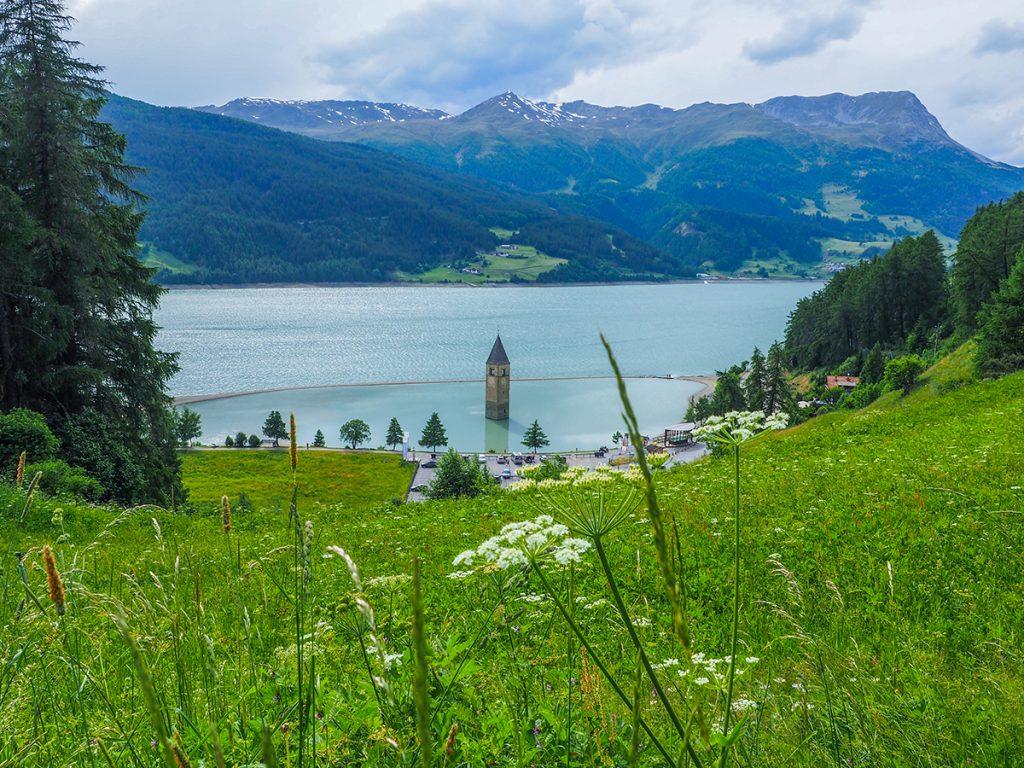Wandern Reschensee - Graun