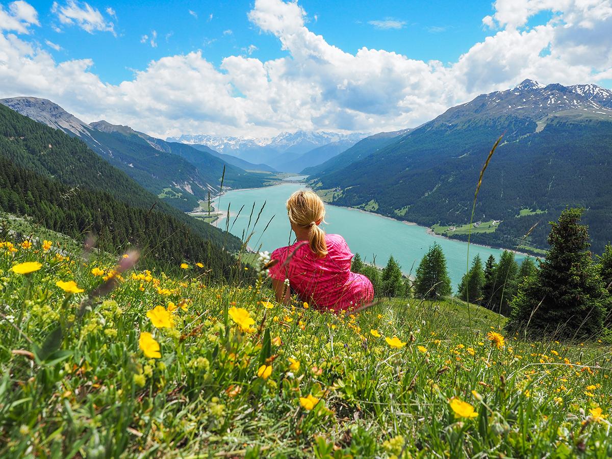 Wandern Reschensee - Plamort, Aussichtspunkt